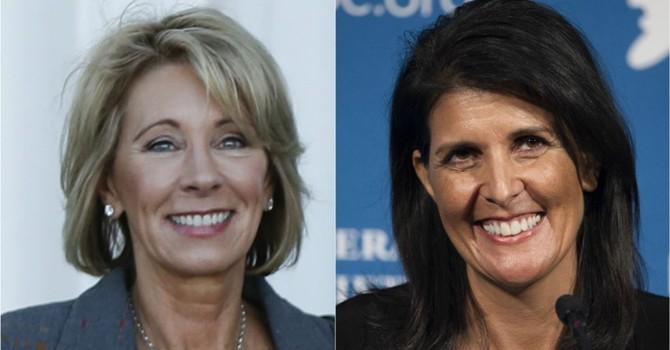 Hai người phụ nữ đầu tiên được ông Trump bổ nhiệm vào nội các