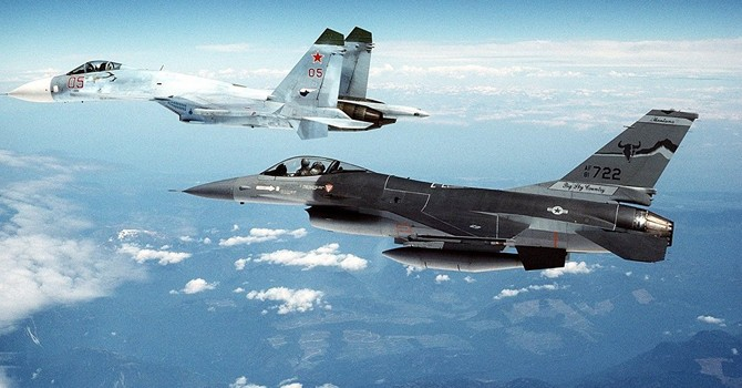 [VIDEO] Độc quyền hình ảnh Su-27 Nga xua F-16 NATO ra xa máy bay của Bộ trưởng Quốc phòng Nga
