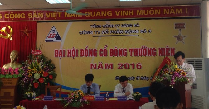 ĐHĐCĐ Sông Đà 6: Kế hoạch lợi nhuận giảm 23% so với 2015