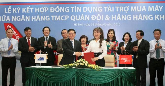 MB tài trợ tín dụng 35,5 triệu USD cho Vietjet Air mua máy bay mới
