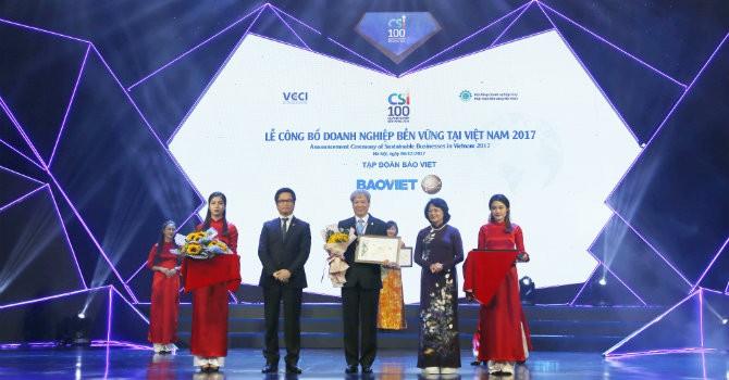 Tập đoàn Bảo Việt - 2 năm liên tiếp trong TOP 10 Doanh nghiệp Bền vững xuất sắc nhất Việt Nam