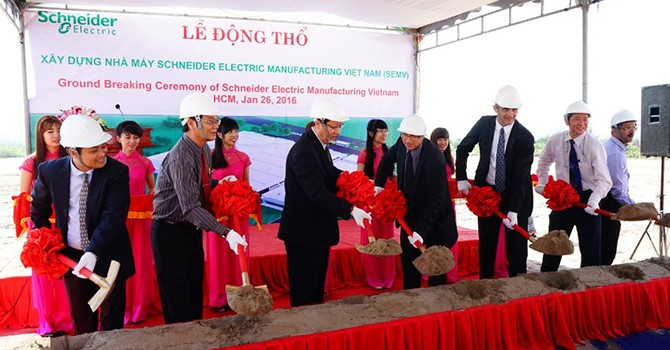 Schneider Electric Starts Construction of HCM City Plant