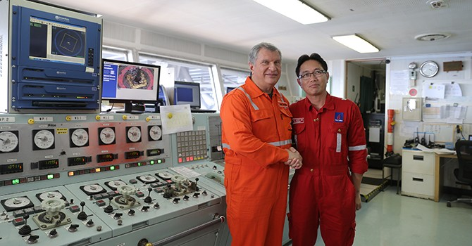 Rosneft Chairman Visits Exploration Well Offshore Vietnam