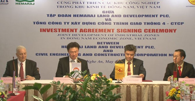 Hemaraj to Develop 2 Industrial Parks in Vietnam