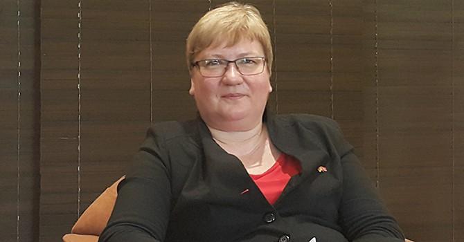 Bà Iris Gleicke, Quốc vụ khanh Bộ Kinh tế và Năng lượng Đức. Ảnh: Minh Tuấn