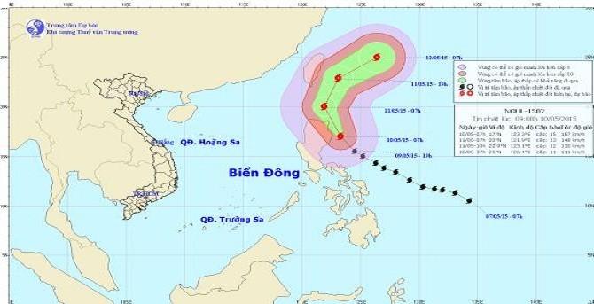 Ảnh hưởng cơn bão Noul, biển Đông gió giật cấp 9-10