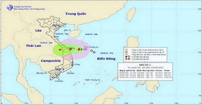 Bão giật cấp 10 đang áp sát Đà Nẵng, Quảng Ngãi