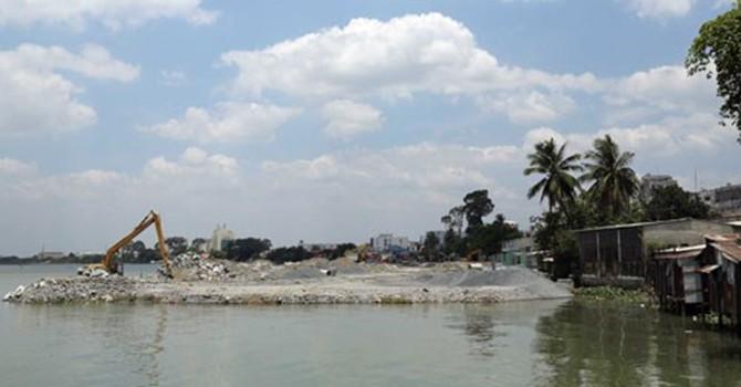 """Lấp sông Đồng Nai làm dự án: Chủ đầu tư """"bất ngờ"""" gặp dân"""