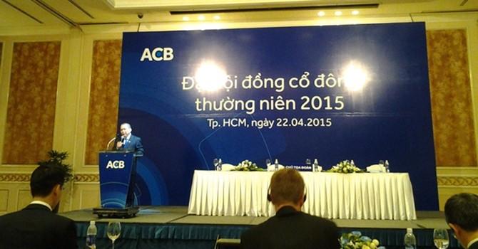 ĐHĐCĐ ACB: Lãi quý I đạt 359 tỷ đồng
