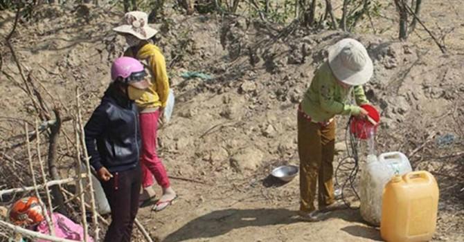Ninh Thuận: Hơn 18.000 người dân thiếu nước sinh hoạt