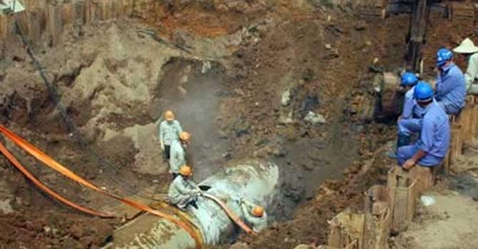 Tháng 8 mới khởi công tuyến đường ống nước sạch sông Đà thứ 2