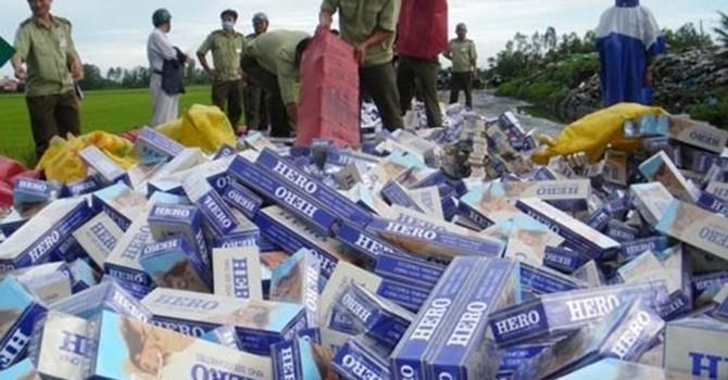 Thuốc lá lậu vượt ngưỡng 1 tỷ bao