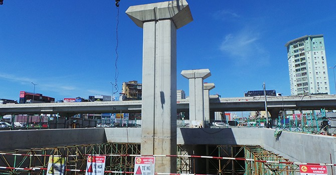 Hà Nội: Hầm chui Thanh Xuân chậm tiến độ do... đường sắt trên cao