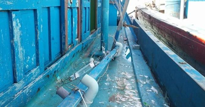 Hai tàu cá Bình Định tố bị tàu sắt Trung Quốc tấn công