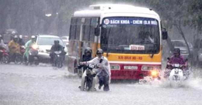 Hà Nội vẫn sẽ mưa tầm tã trong 3 ngày tới