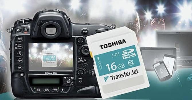 Toshiba ra mắt thẻ SDHC 16GB trang bị công nghệ TransferJet