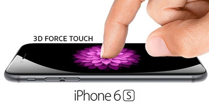 Màn hình iPhone 6S có thể phân biệt ba mức lực bấm