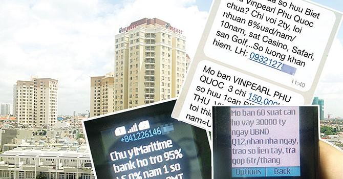 Loạn tin nhắn quảng cáo bất động sản