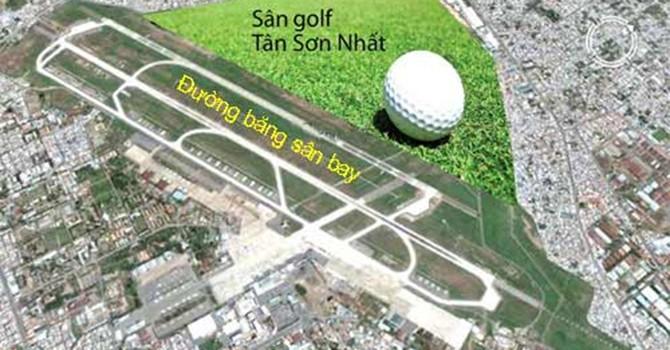Đề xuất cho làm tiếp dự án sân golf trong sân bay Tân Sơn Nhất