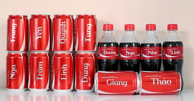 Sau Coca-cola, nhiều thương hiệu cũng muốn ghi tên khách hàng lên vỏ lon