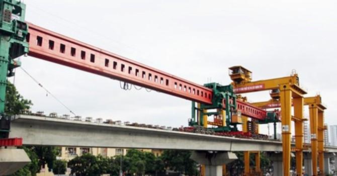 Dự án đường sắt Cát Linh - Hà Đông: Năm 2017 mới bắt đầu chạy tàu