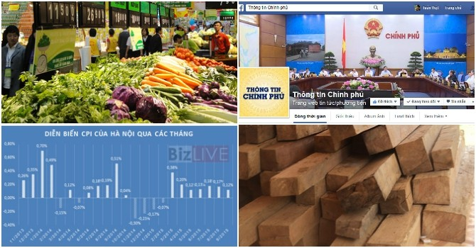 CPI Hà Nội tăng nhẹ, Chinhphu.vn lên facebook