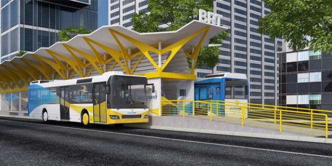 TP.HCM khởi động xây dựng tuyến xe buýt nhanh - BRT