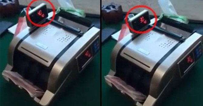 Trung Quốc chế máy đếm tiền ăn bớt tiền