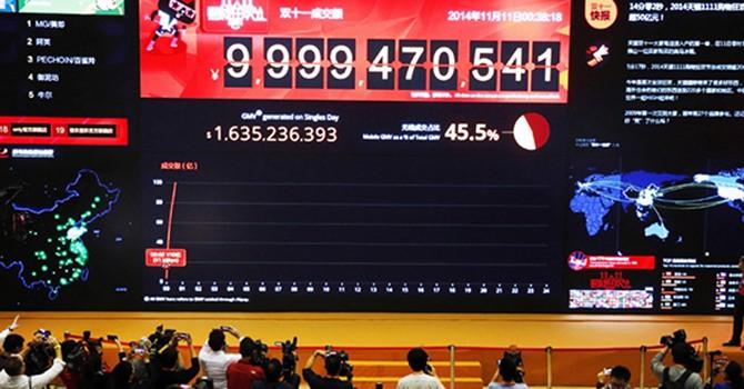 """Alibaba dự kiến thu hàng tỷ USD trong """"ngày độc thân"""""""