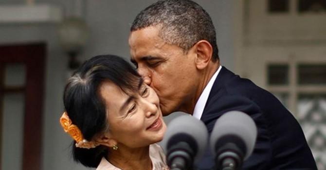 Tổng thống Obama gọi điện chúc mừng bà Aung San Suu Kyi