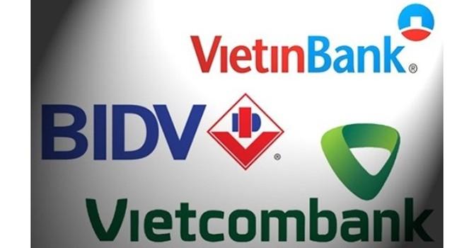 """""""So găng"""" nợ xấu ngàn tỷ 3 ông lớn Vietcombank, BIDV, Vietinbank: Ai khủng nhất?"""
