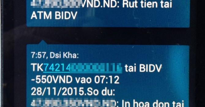 Khách hàng BIDV bỗng dưng bị mất tiền trong tài khoản