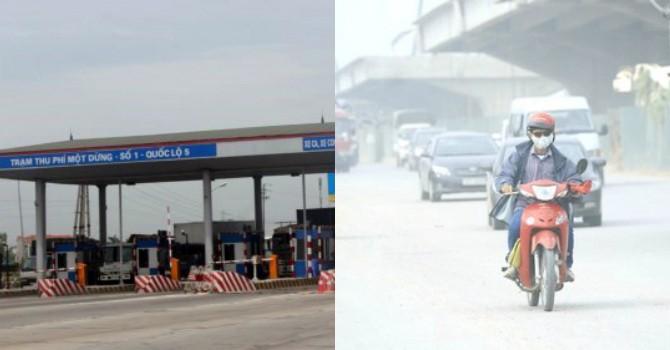 Hà Nội ô nhiễm không khí trầm trọng, trạm thu phí chỉ biết đòi tăng