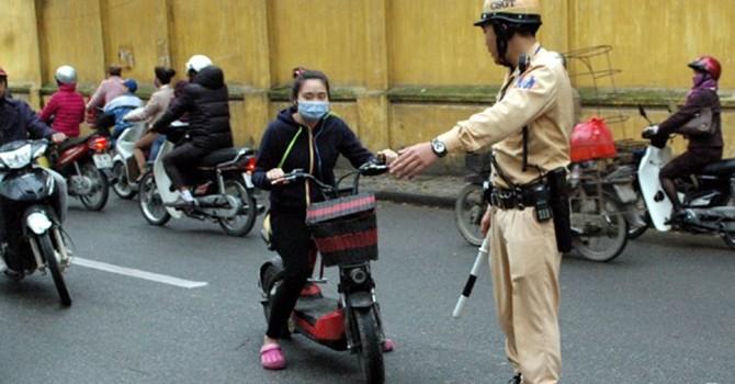 Xe đạp, máy điện đăng ký biển kiểm soát không phải mất phí