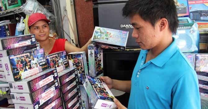 Sẽ phạt nặng doanh nghiệp bán đầu thu số DVB-T2 sai tiêu chuẩn đã công bố
