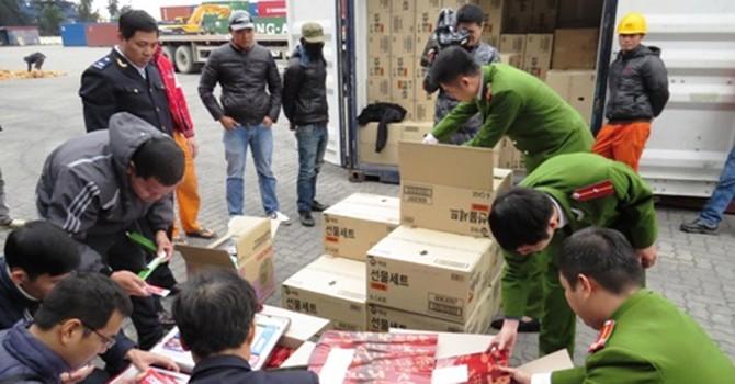 9 tấn hóa mỹ phẩm Hàn Quốc nhập lậu bị tạm giữ