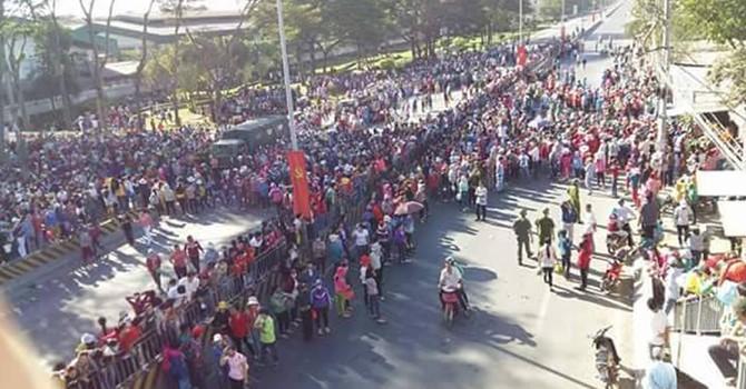 Hàng ngàn công nhân công ty Pouchen đình công, Quốc lộ 1K tê liệt