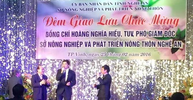 """Phó Giám đốc Sở Nông nghiệp Nghệ An mở tiệc """"nhậm chức"""" hoành tráng: Lỗi do cái """"phông""""?"""