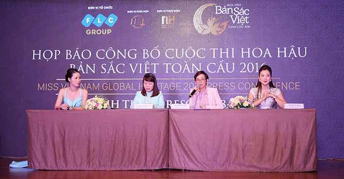 """Họp báo công bố cuộc thi """"Hoa hậu Bản sắc Việt toàn cầu 2016"""""""