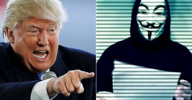 Anonymous tuyên bố tấn công Donald Trump vào 1/4