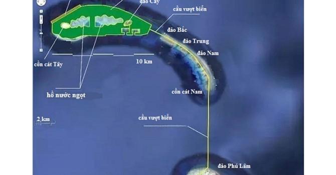 Trung Quốc tính xây cầu vượt biển hơn 10 km ở Hoàng Sa