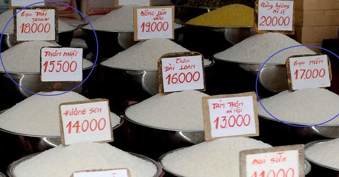 Lập lờ gạo Việt mác ngoại