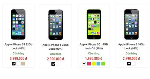 iPhone 5c giá 2 triệu đồng tràn về Việt Nam