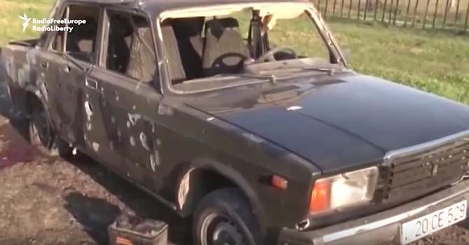 [Video] Azerbaijan tiết lộ cảnh làng mạc bị nã đạn pháo trong đêm