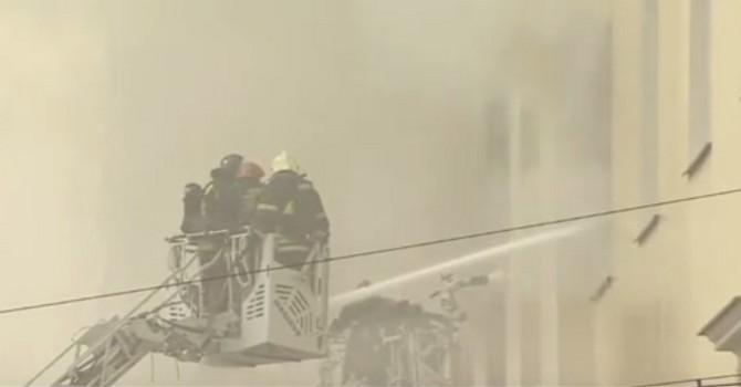 Báo Nga tiết lộ Video đám cháy tại toà nhà Bộ quốc phòng Nga ngày càng lan rộng