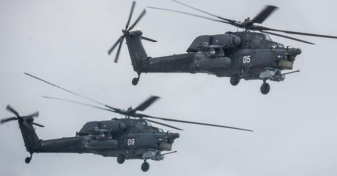 [Video] Không quân Nga sử dụng máy bay trực thăng Mi-28N ở Syria