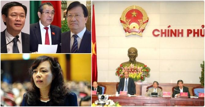 Chính phủ sắp có 3 tân Phó Thủ tướng và 18 bộ trưởng mới