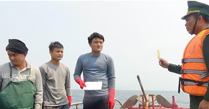 6 tàu cá Trung Quốc hành nghề trái phép ở vùng biển Việt Nam