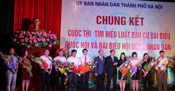 AMD Group tài trợ cuộc thi tìm hiểu luật bầu cử Đại biểu Quốc hội và Đại biểu HĐND của TP. Hà Nội