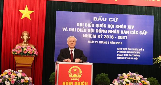 """Tổng bí thư Nguyễn Phú Trọng: """"Cuộc tuyển cử lớn nhất từ trước đến nay"""""""